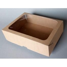 pudełko  na ciasto z okienkiem15x21x6cm50szt